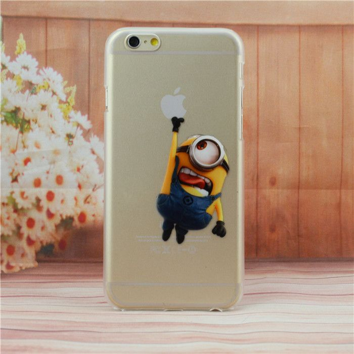 Minion Hanging from Apple logo