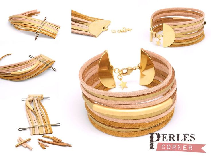 Bracelet manchette gold tutoriel bijoux tendance…