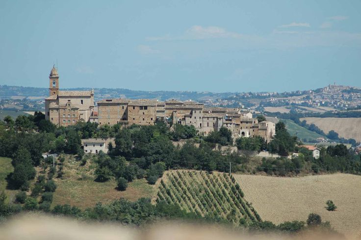 Views from the roof terrace towards Moregnano