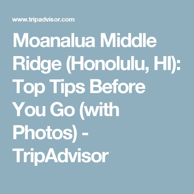 Moanalua Middle Ridge (Honolulu, HI): Top Tips Before You Go (with Photos) - TripAdvisor