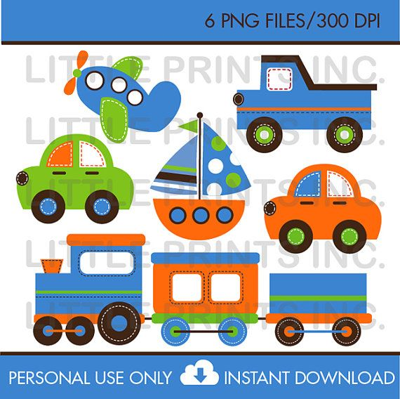Transportation Clipart INSTANT DOWNLOAD