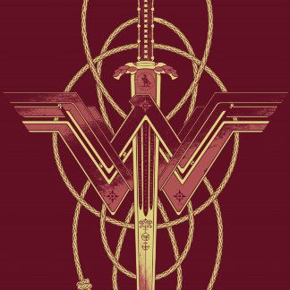 Wonder Woman Logo With Sword And Lasso