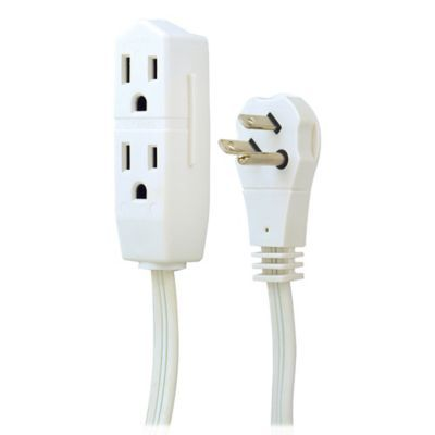 Ge 8 3 Prong Extension Cord In White Extension Cord Prong Cord