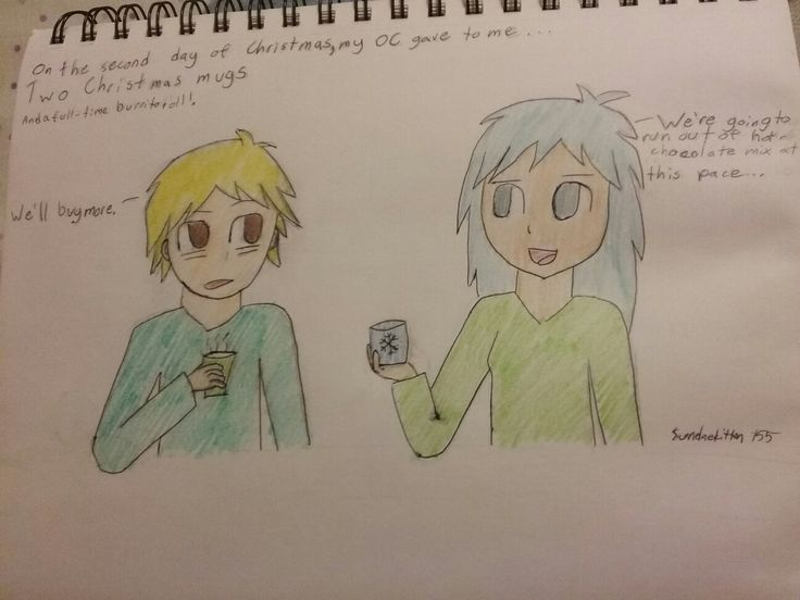 2nd day of Christmas challenge- with my old OC  Sam (left) and my new OC Tara(right)!