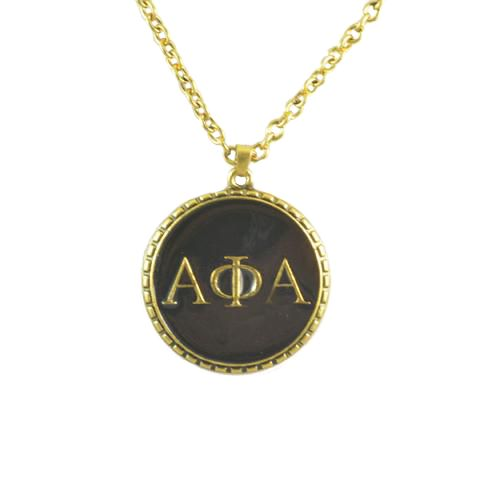 Alpha Phi Alpha Greek Letter Jewelry Necklace
