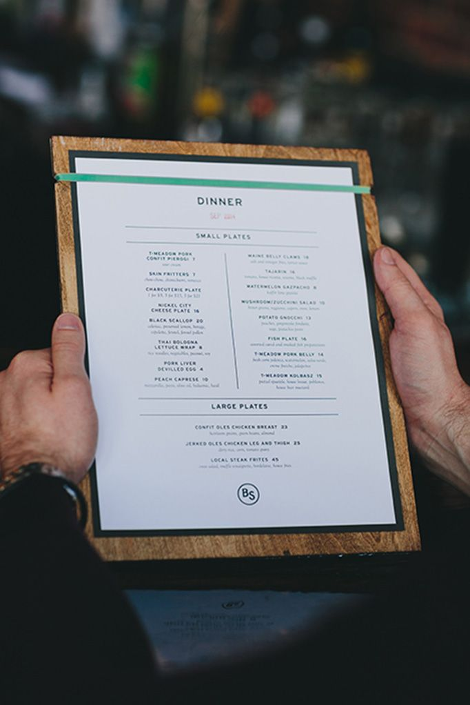 The Black Sheep menu design