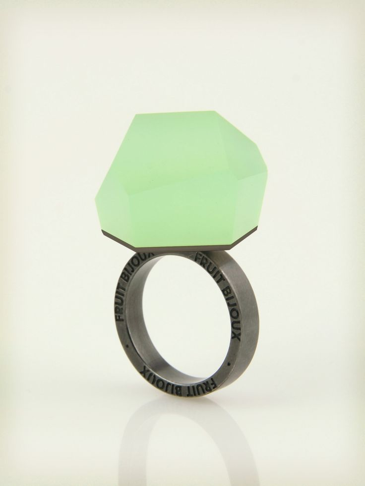 Vu - mint green, ruthenium ring - =PYO=