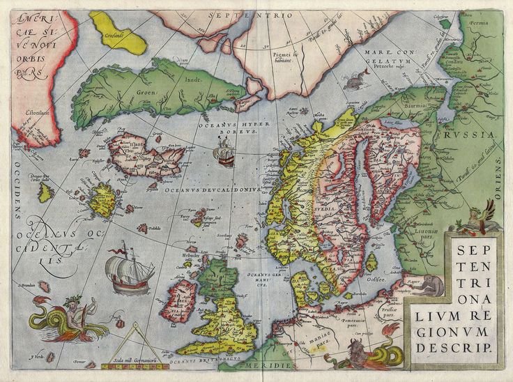"This map, published by Ortelius in 1570, shows the North Atlantic, and is rife with common cartographic errors. The island of Frisland, comes from the Zeno map of 1558; Iceland itself is divided by a number of rivers. Also from Zeno's map are ""Estotiland"" and ""Icaria."" A number of imagined islands, including ""St. Brendan"" and ""Brazil."" ""Groclandt,"" to the west of Greenland, is borrowed from Mercator's maps, as is the Arctic continent labeled ""Pigmei hic habitant"" - ""pygmies live here."""