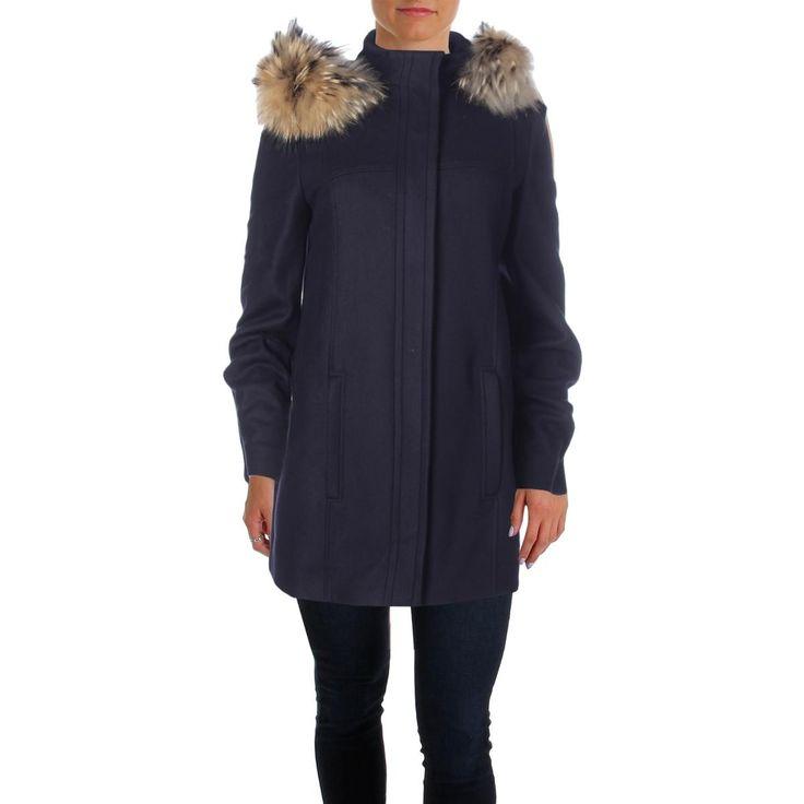 BOSS Hugo Boss Womens Candira Tanuki Fur Hooded Coat