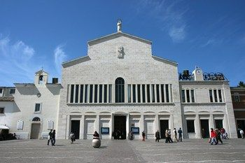Shrine of Padre Pio - San Giovanni Rotondo, Italy. Santa Maria della Grazie, containing Padre Pio's tomb and cell