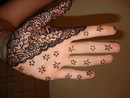 Double Style Floral Hand Mehndi