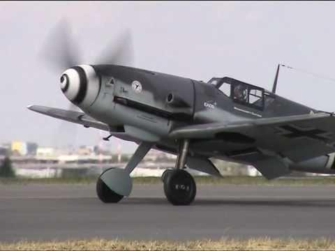Messerschmitt BF 109 & Me 262 over Berlin, 75th anniversary of Messerschmitt AG
