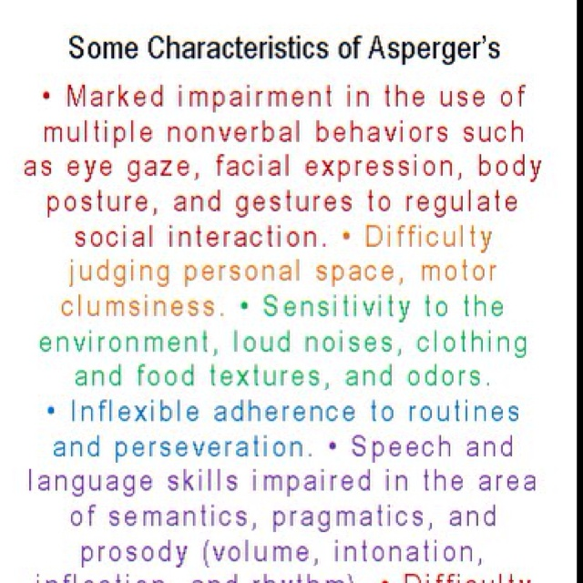 aspergers disorder Asperger's syndrome is one of the autism spectrum disorders affected individuals display considerably impaired capacity for social interaction, unusual special interests, and a tendency towards ritualized behavior the etiology, symptoms, diagnosis, and treatment of asperger's syndrome in.