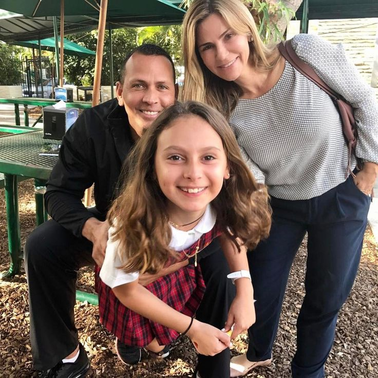 Alex Rodriguez Shares Photo with Daughter and Ex-Wife at Parent-Teacher Day