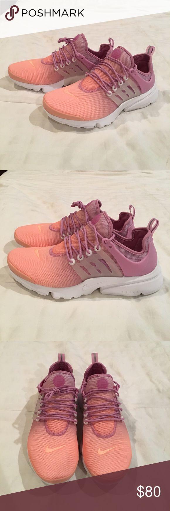 Nike Presto Size 10 Nike Presto. NEVER WORN! Ombré orange and purple! Nike Shoes Athletic Shoes
