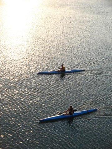 Canoe @ Voyliagmeni Lake