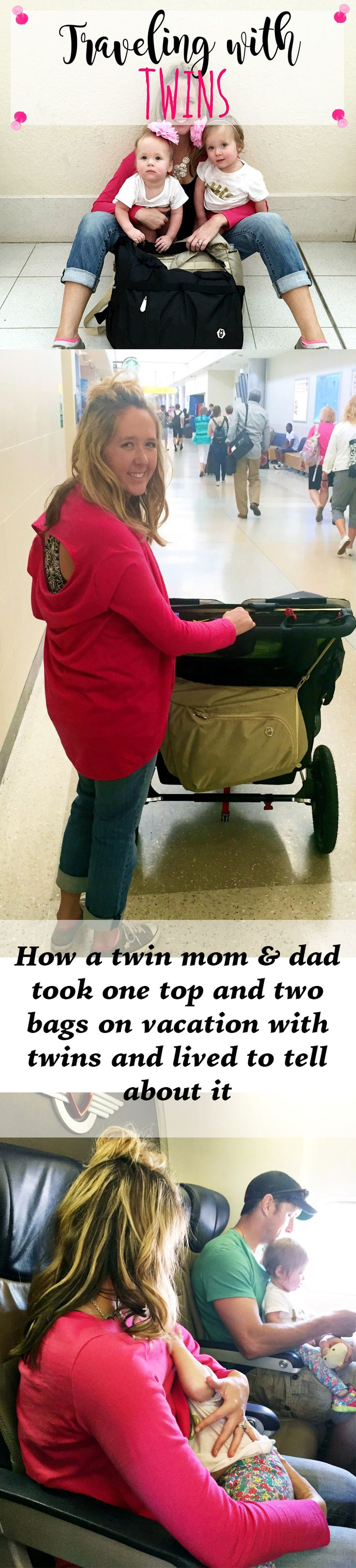 Blogger of Twin Peeks took the Cardimom® and Division of Labor bag on vacation with twins. The result? Rave reviews! nursing covers, traveling with kids, diaper bags, travel bags