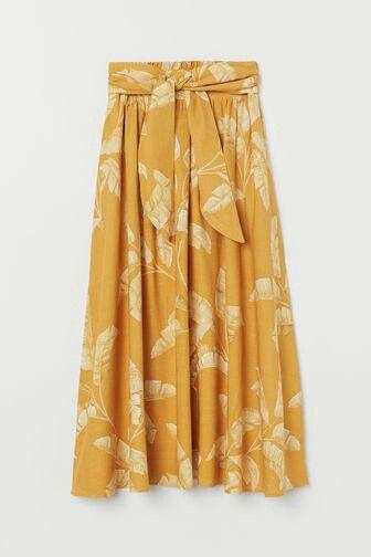 mango mustard floral skirt schicke kleider kleid mit aermel modestil
