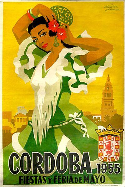 By Alvarez Gomez, 1955, Cordoba y feria de mayo.