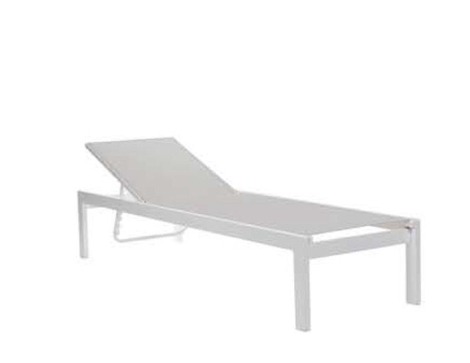 1712/NAXOS-SU. Sunbed from aluminium and Serge Ferrari fabric. Have you a project. Contact us..