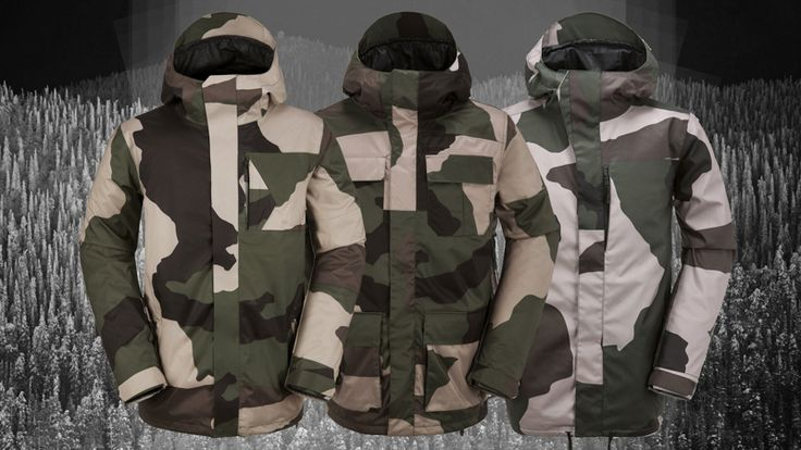 Camo print never goes out - here's a selection of this year's best camo snowboard jackets and pants