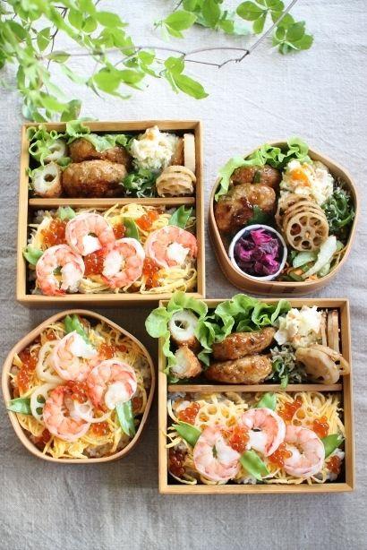 ちらし寿司つくねささみチーズフライポテトサラダ蓮根の金平じゃこピーマン柴漬け色々サラダ