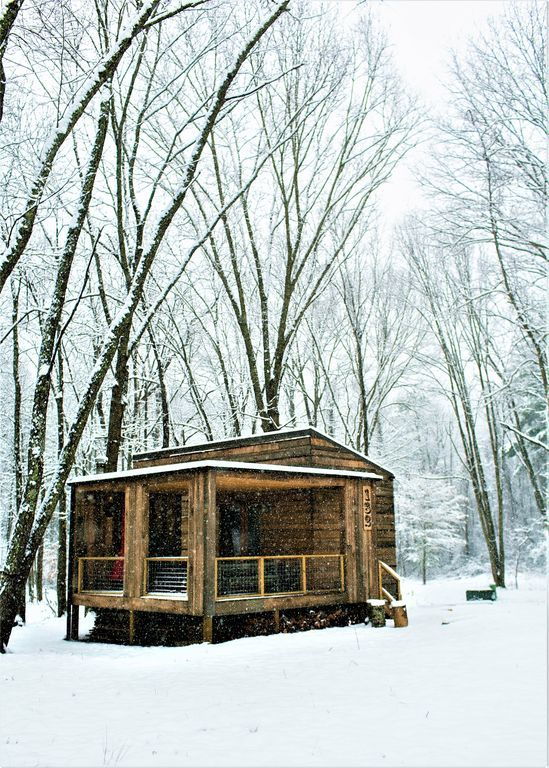 330 sq ft tiny cabin near asheville rustic modern cabin rh pinterest pt
