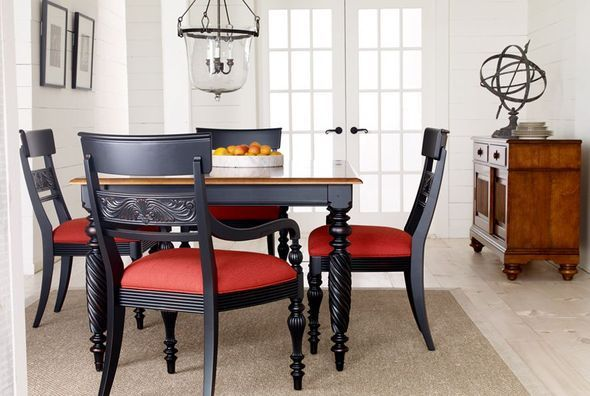 Update Our British Classics Dining Room By Adding Black! Dining Room | Shop  By Room | Ethan Allen | Color Study  Black | Pinterest | Room, Kitchen  Dining ...  Ethan Allen Dining Room Chairs