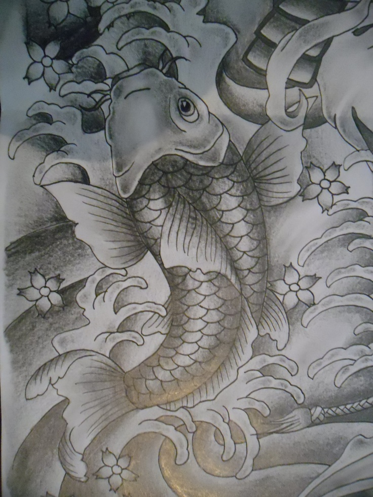 31 best koi dragon and koi fish tattoo images on pinterest for Koi dragon meaning