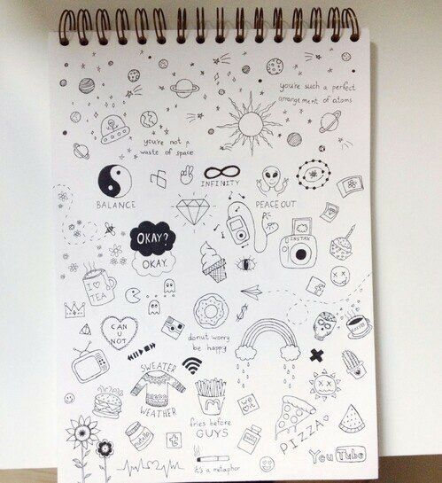 Image via We Heart It #drawing #notebook #Paper #pen #sketch