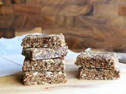 No-Bake Oatmeal Raisin Bars | gluten-Free, dairy-Free and great energy snack for the trails.  Raisins can be replaced with dates and walnuts with almonds for variation.