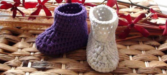 Crochet Newborn Booties