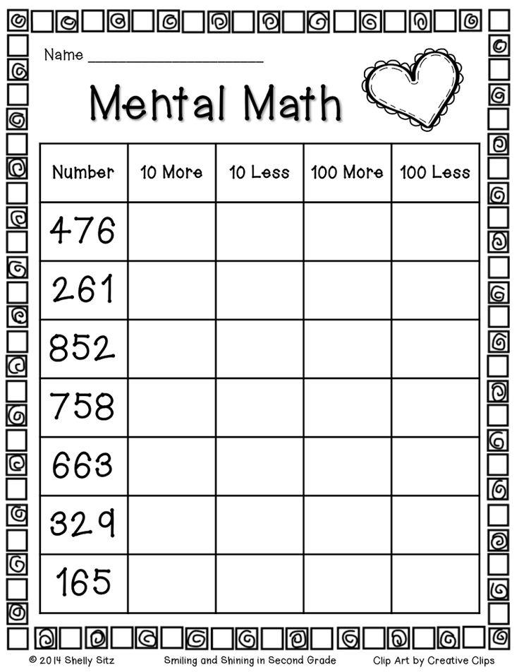 Page 1 | Mental maths worksheets, Homeschool math, 2nd ...