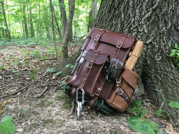Leather handmade Bushcraft Backpack & Gear - By Gillie Leather