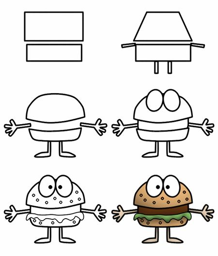 cartoon drawings of food | Go back to How to draw cartoon food