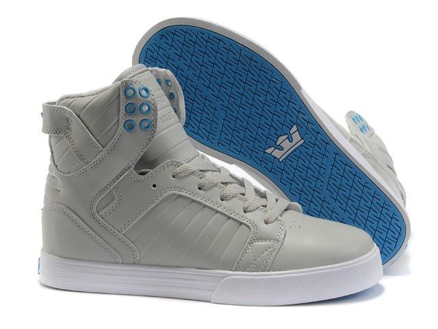 2013 Supra Skytop Mens Beige Blue Pattern Shoes