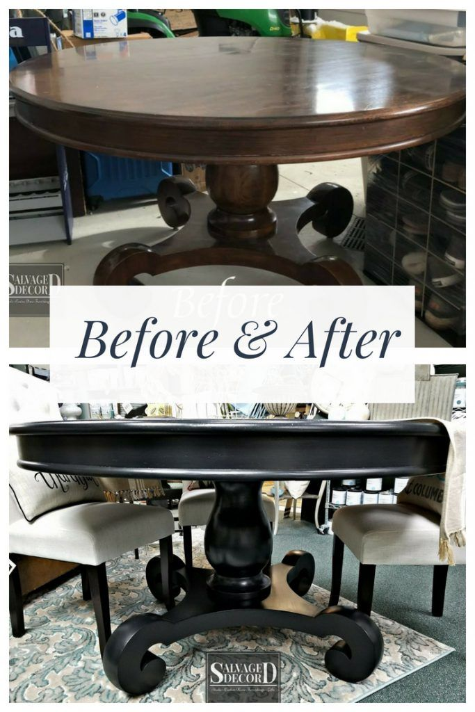 before after see how we transform this kitchen table using rh pinterest com