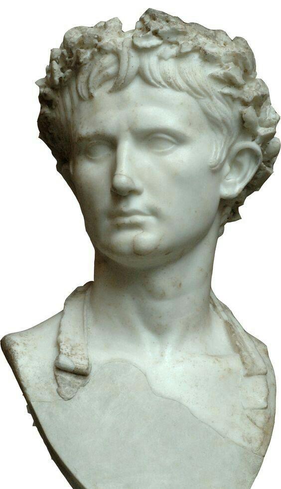 Busto di Augusto, I secolo d.C., marmo, indossa una corona civicaconservato a Monaco,