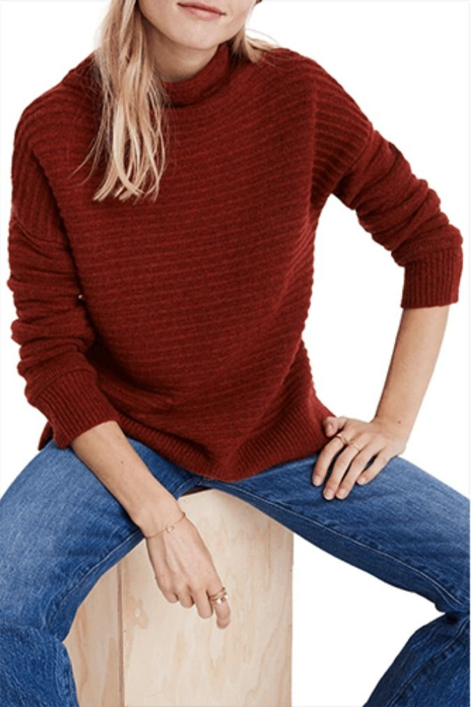 What We Re Buying From The Nordstrom Black Friday And Cyber Monday Sales Mock Neck Sweater Madewell Sweater Sweaters