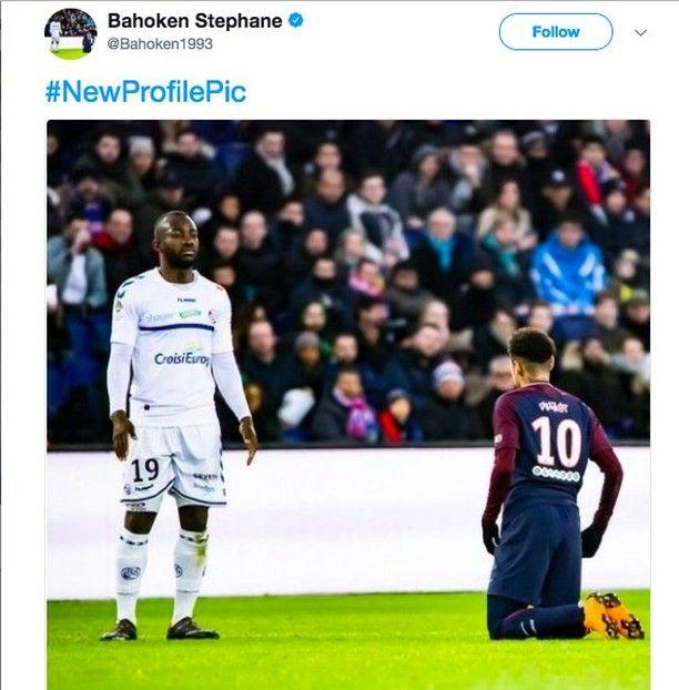 Strasbourg S Bahoken Stephane With The Best Profile Picture Ever Football Footballmemes Soccer Soccermemes Fu Soccer Memes Football Comedy Football Memes