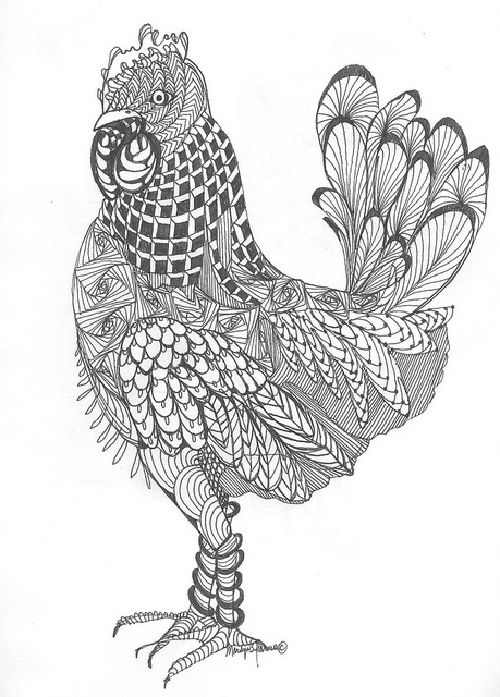 Coloring Pages For Adults Rooster : Best images about color pages on pinterest gel pens