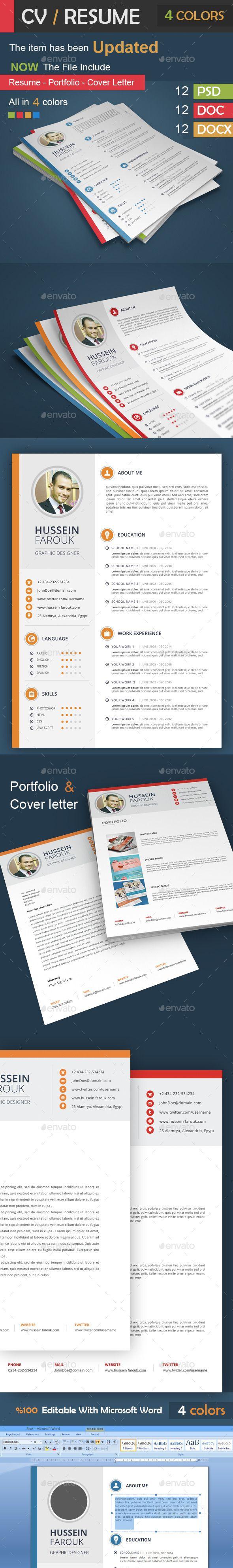 CV Resume Portfolio Cover