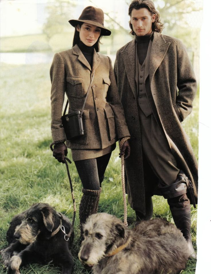 You can have the tweeds, but I'll take the dogs.   Tweeds + pair of Irish Wolfhounds for the manor.