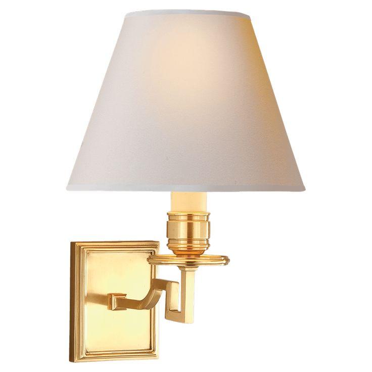 DEAN ENKELARMAD LAMPETT I NATURELL MÄSSING MED NATURELL SKÄRM