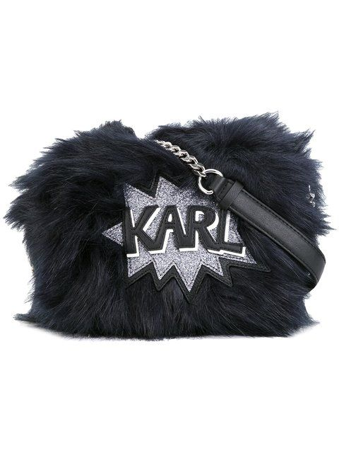 KARL LAGERFELD Fuzzi cross-body bag. #karllagerfeld #bags #leather #polyester #