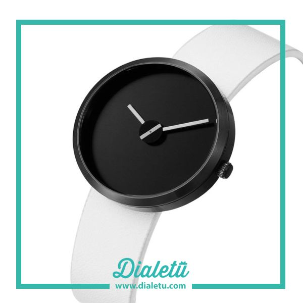An unique design watch that expresses the love for time.  Sometimes Black 36MM (Wht Leather) by Projects