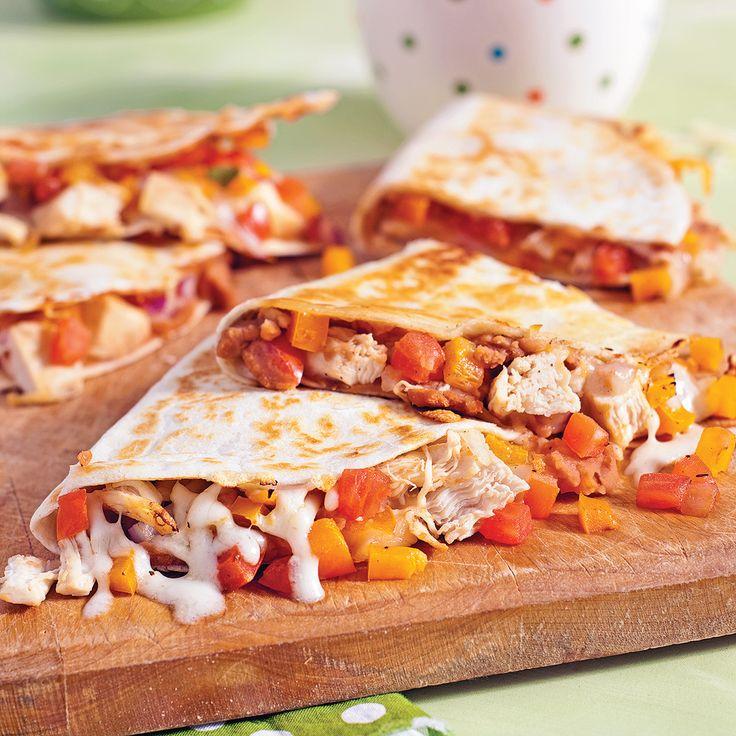 Quesadillas au poulet - Recettes - Cuisine et nutrition - Pratico Pratique