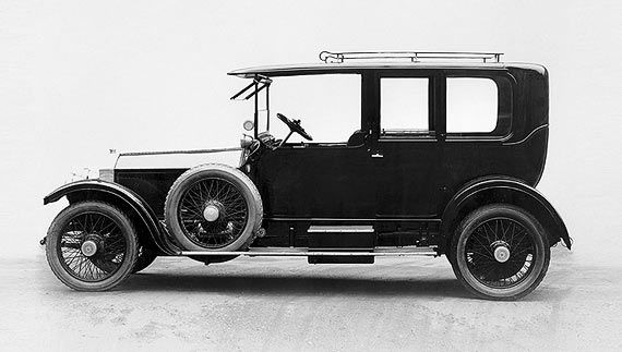 Rolls-Royce Limited was created over a famous lunch in May 1904.  Introduced in 1907, the 40/50 HP or Silver Ghost remained in production until 1925. Originally powered by a 7,036cc six-cylinder engine, this was increased to 7,428cc in 1909.  http://www.rolls-roycemotorcars.com/history/#
