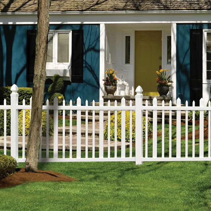 Shop gatehouse arborley 4 ft x 8 ft white stockade picket for 4 foot fence ideas