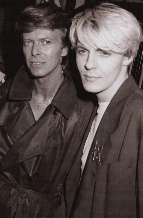 Bowie with Duran Duran's Nick Rhodes